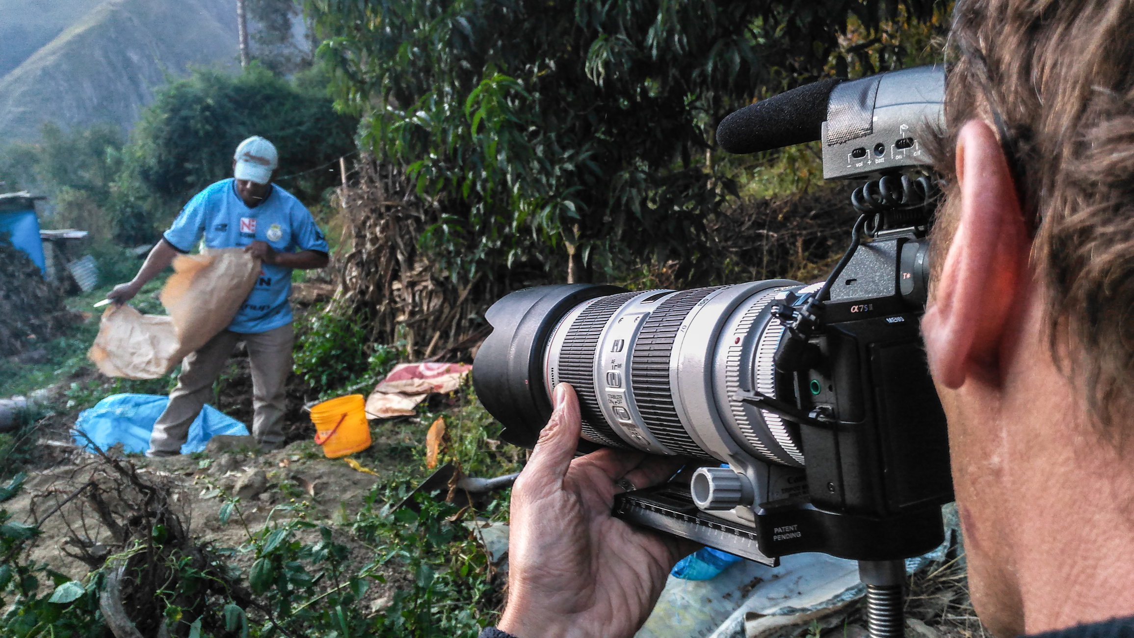 Tournage en Amazonie