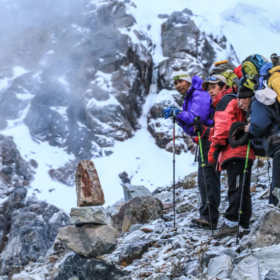 Huayhuash : montée au glacier Rasac