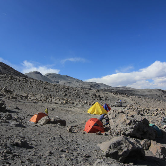 Camp de base du volcan Ubinas
