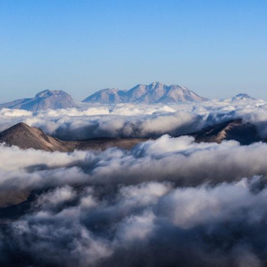 Vallée des volcans depuis le volcan Ubinas
