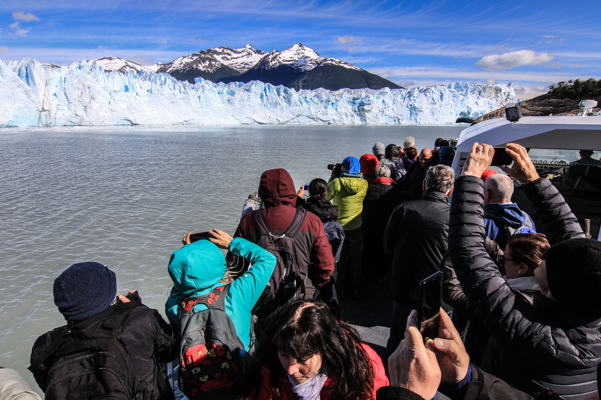 Navigation en direction du glacier Perito Moreno