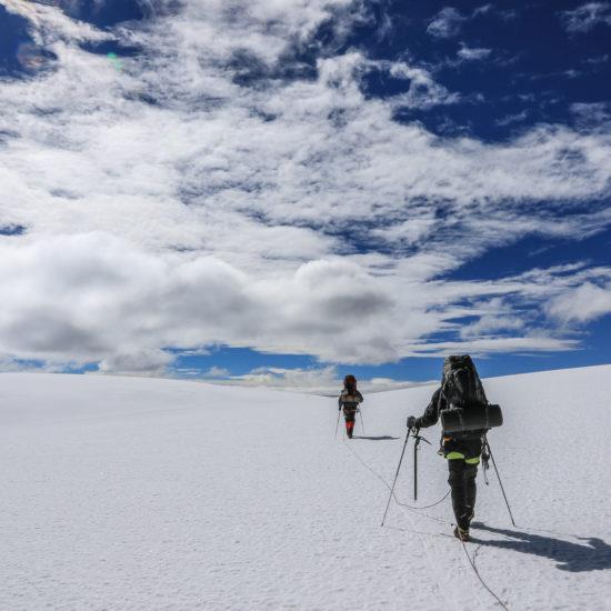 Quelccaya: progression vers le sommet