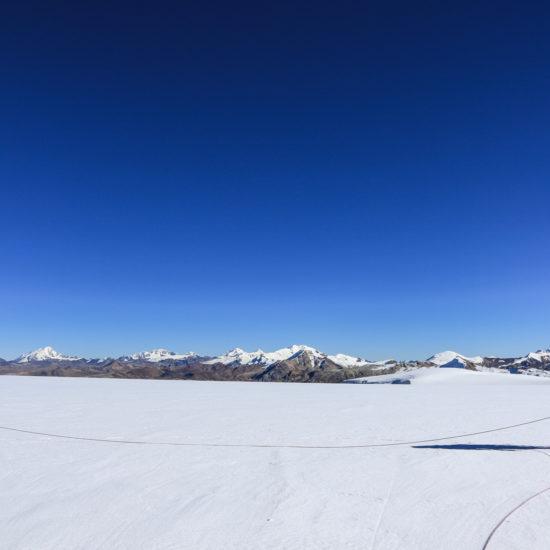 Trekking Peak Ausangate: progression sur le glacier Quelccaya