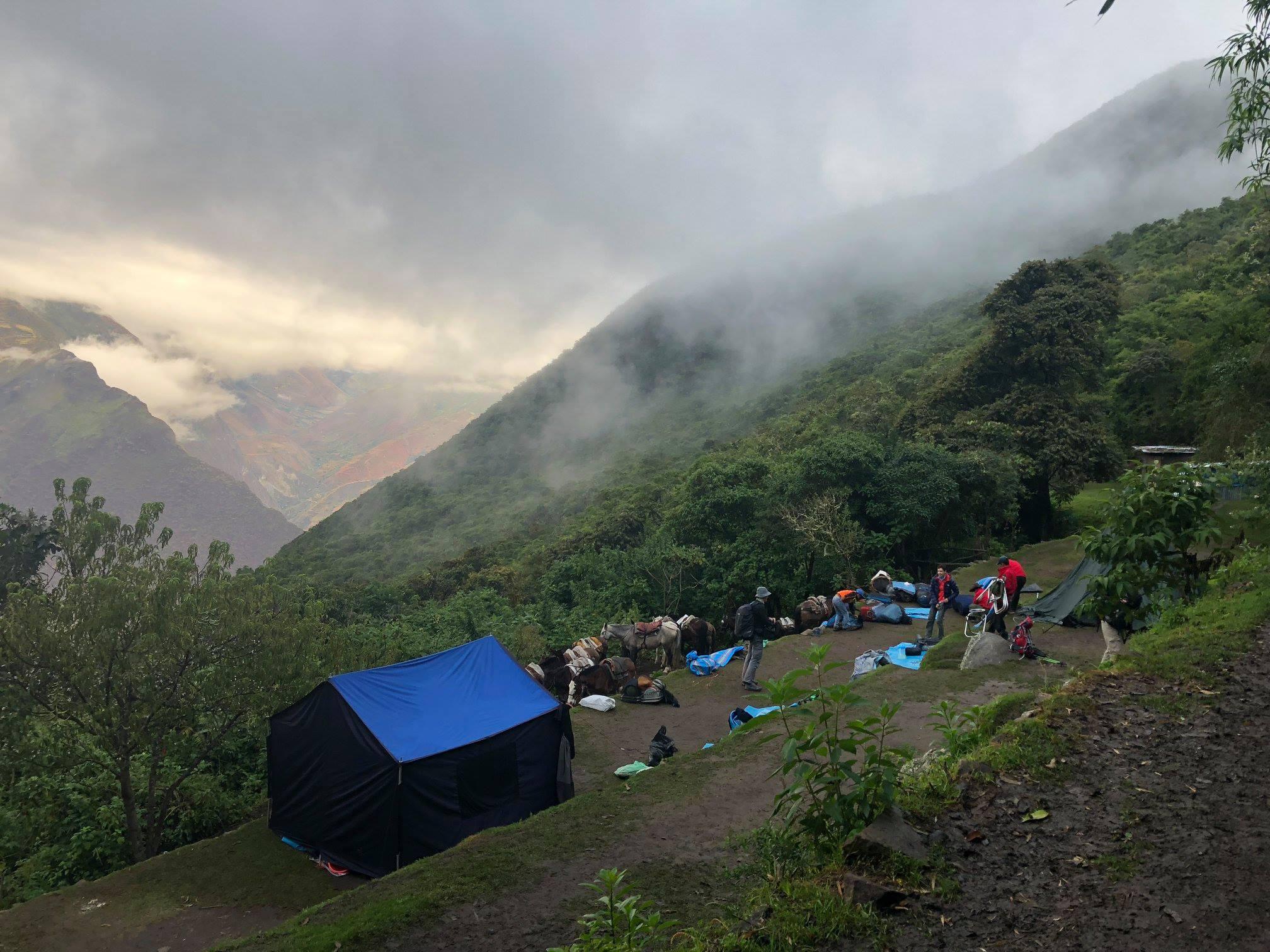 Camp de Choquequirao