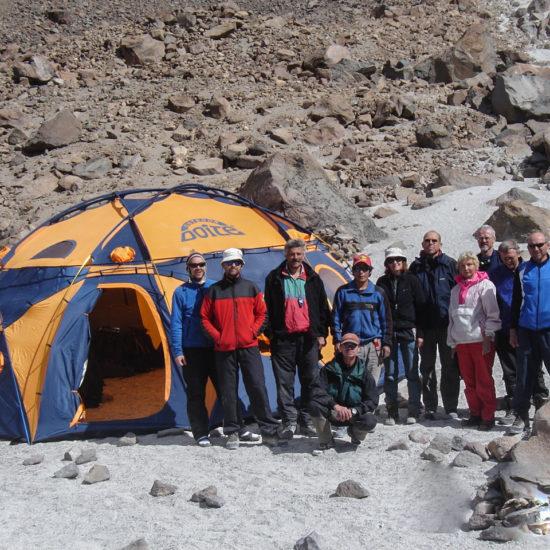 Camp de base du volcan Chachani