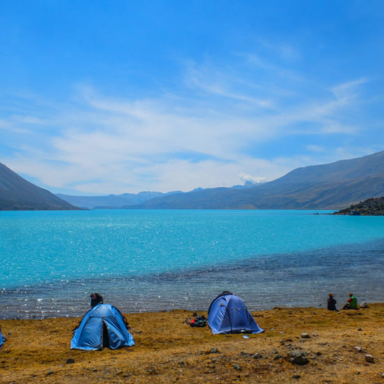 Trek Ausangate: lagune Singrenacocha
