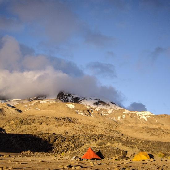 Ascension du volcan Coropuna : camp de base