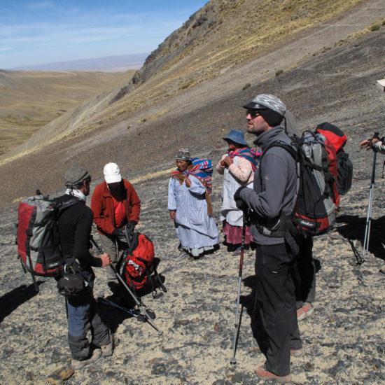 Trekking cordillère Royale : pause au col Calzada