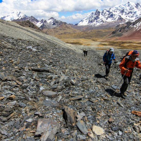 En route vers le sommet du Huayruro Punco