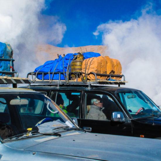 Départ de l'étape en direction de la lagune Colorada