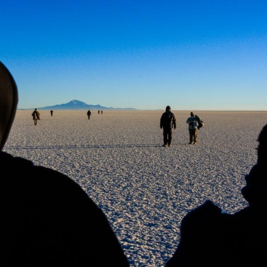 Lever du jour sur le salar de Uyuni