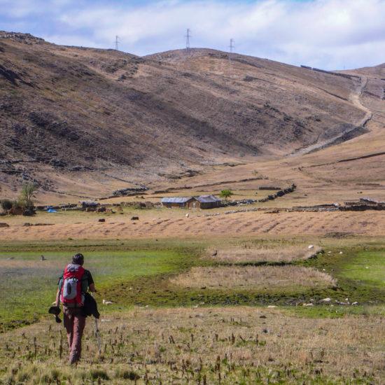 Chemin inca aux abords de Huanuco Pampa