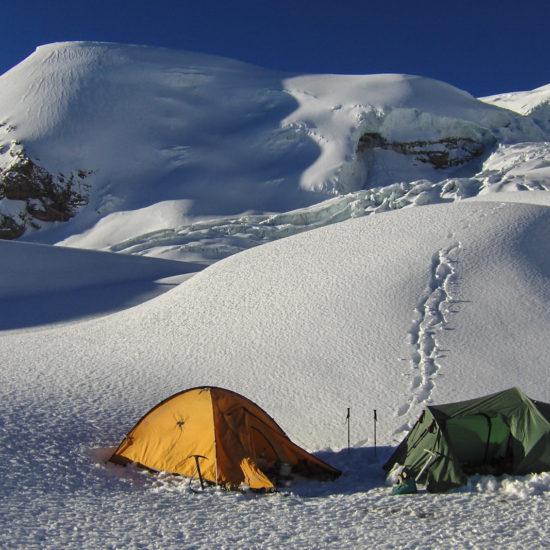 Camp d'altitude du volcan Coropuna